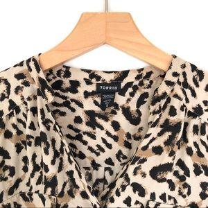 torrid Tops - Torrid Leopard Print Blouse Size 2